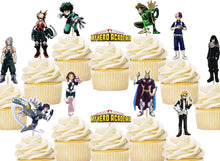 Load image into Gallery viewer, My Hero Academia Cupcake Toppers, Handmade