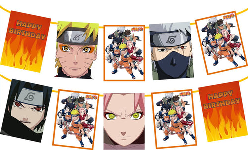 Naruto Birthday Party Banner
