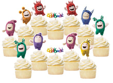 Load image into Gallery viewer, Oddbods Cupcake Toppers, Handmade