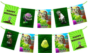 Plants vs Zombies Birthday Banner