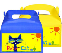 Load image into Gallery viewer, Pete The Cat Treat Favor Boxes, Party Supplies