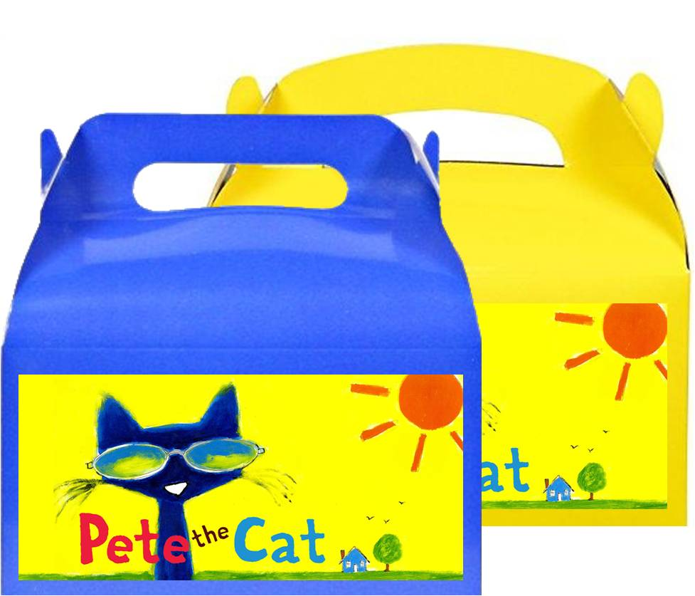 Pete The Cat Treat Favor Boxes, Party Supplies