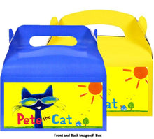 Load image into Gallery viewer, Pete The Cat Treat Favor Boxes 8ct