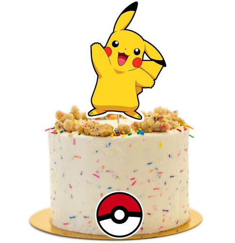 Pikachu Cake topper, Birthday party supplies