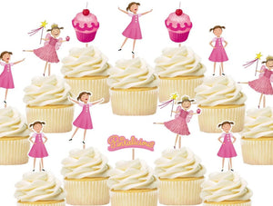 Pinkalicious Cupcake Toppers, Cake decorations