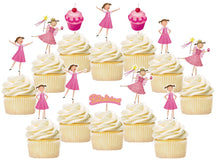 Load image into Gallery viewer, Pinkalicious Cupcake Toppers, Handmade