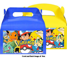 Load image into Gallery viewer, Pokemon Treat Favor Boxes 8ct