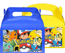 Load image into Gallery viewer, Pokemon Treat Favor Boxes, Party Supplies