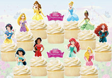 Load image into Gallery viewer, Disney Princess Cupcake Toppers