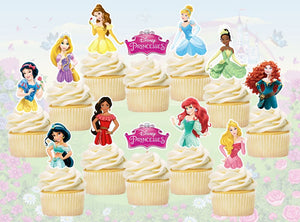 Disney Princess Cupcake Toppers, Handmade