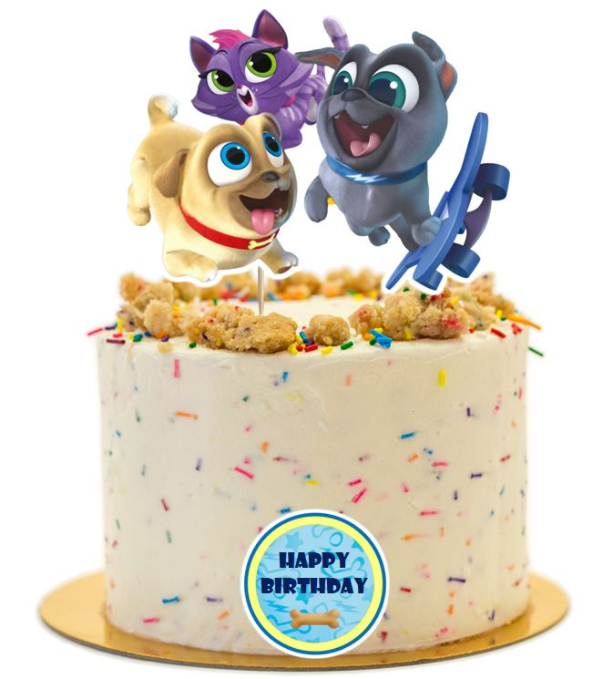 Puppy Dog Pals Cake Topper, Puppy Dog Pals Cake Topper, Handmade