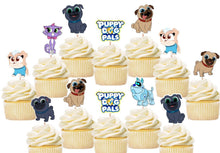 Load image into Gallery viewer, Puppy Dog Pals Cupcake Toppers, Handmade