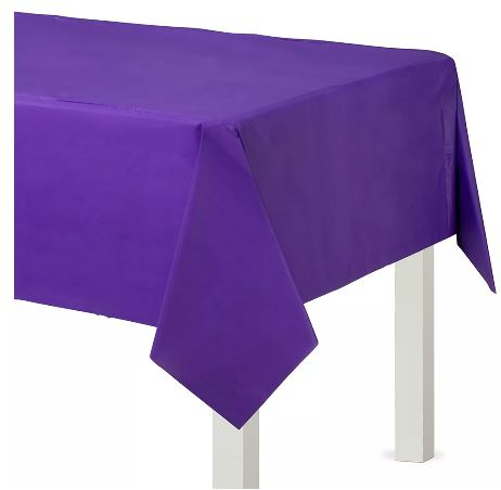 Purple Plastic tablecover
