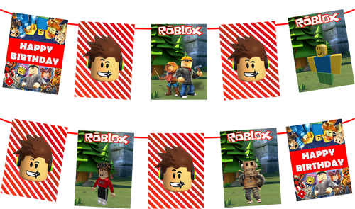 Roblox 7ft Party Banner, Birthday Party Supplies Decorations
