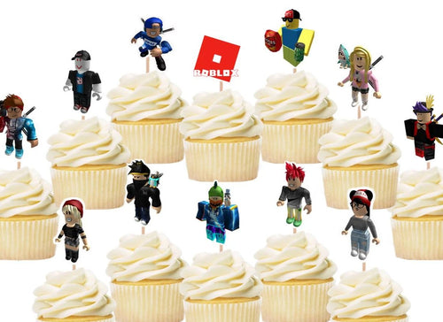 Roblox cupcake toppers, cake decorations
