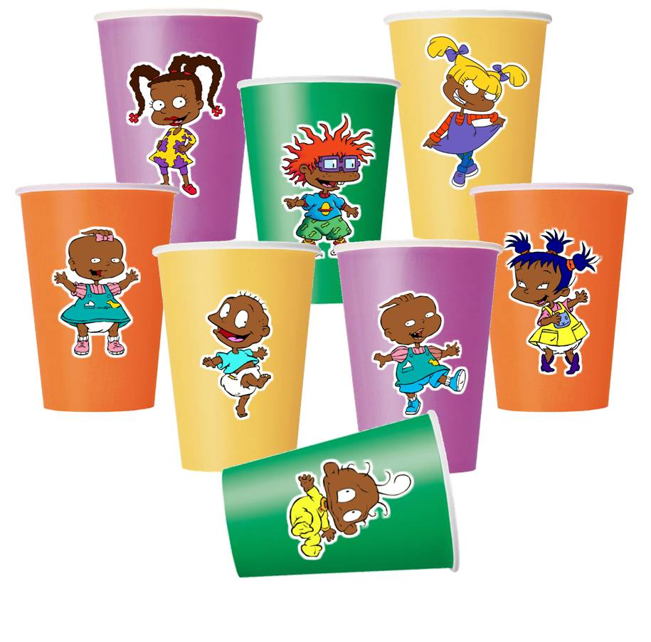 African American Rugrats Party Paper Cups