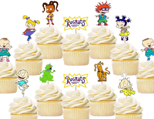 Rugrats cupcake toppers, cake decorations