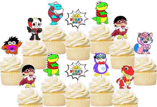 Ryans world cupcake toppers, cake decorations