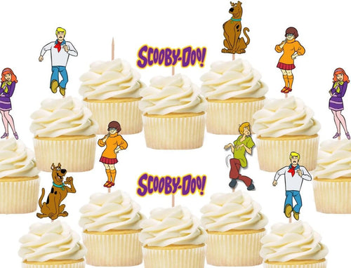 scooby doo cupcake toppers, cake decorations