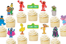 Load image into Gallery viewer, Sesame Street Cupcake Toppers, Handmade