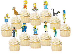 The Simpsons Cupcake Toppers, Handmade