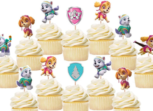 Skye Everest cupcake toppers, cake decorations