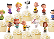 Load image into Gallery viewer, Snoopy Cupcake Toppers