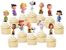 Load image into Gallery viewer, Snoopy Cupcake Toppers, Handmade