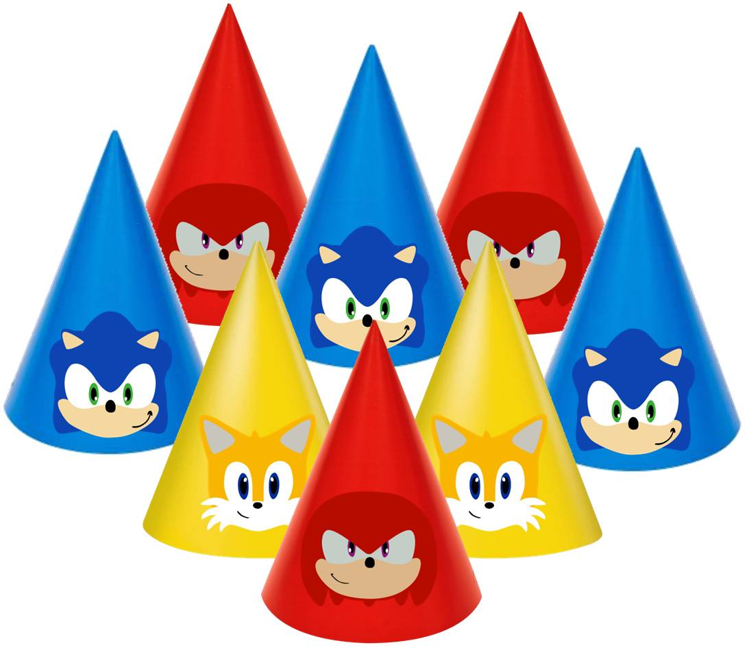 Sonic Paper Party Hats