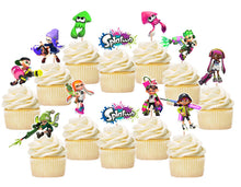 Load image into Gallery viewer, Splatoon Cupcake Toppers, Handmade