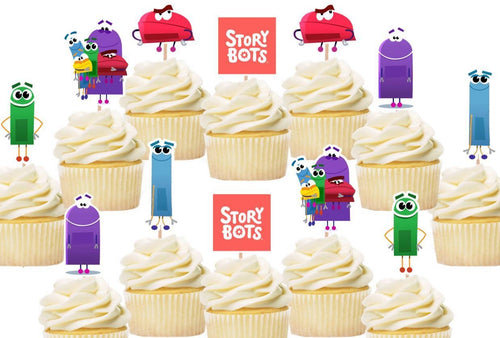 StoryBots Cupcake Toppers, Handmade