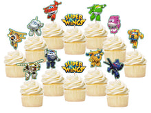 Load image into Gallery viewer, Super Wings Cupcake Toppers, Handmade