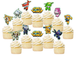 Super Wings Cupcake Toppers, Handmade