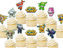 Load image into Gallery viewer, Super wings cupcake toppers, cake decorations