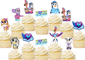 T.O.T.S. - Tiny Ones Transport Service Cupcake toppers