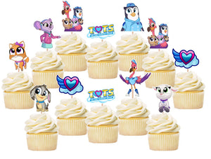 T.O.T.S. Tiny Ones Transport Service Cats Cupcake Toppers, Handmade