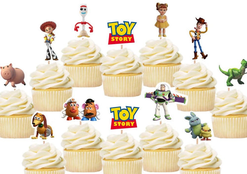 Toy Story 4 cupcake toppers, cake decorations