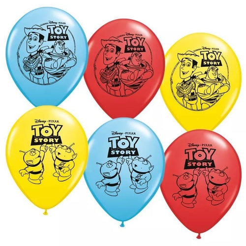 Toy Story 4 Latex Birthday Party Balloons, 12 Piece Set