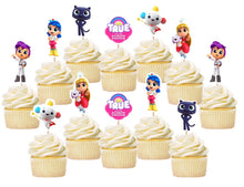 Load image into Gallery viewer, True Rainbow Cupcake Toppers, Handmade
