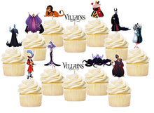 Load image into Gallery viewer, Villains Cupcake Toppers, Handmade