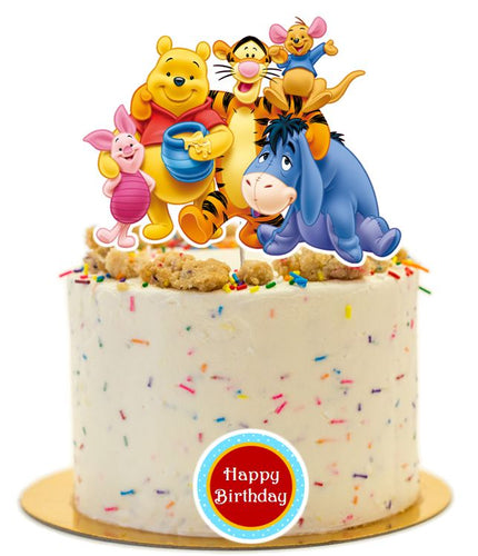 Winnie The Pooh and Friends Cake Topper, Cake Decorations, Party Supplies
