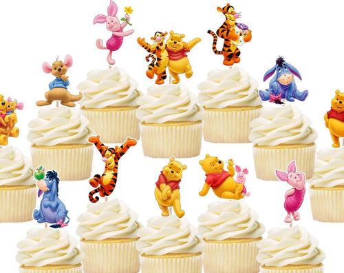 Winnie The Pooh Cupcake Toppers, Cake Decorations