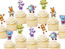 Load image into Gallery viewer, Word Party cupcake toppers, cake decorations