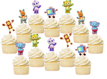 Load image into Gallery viewer, Word Party Cupcake Toppers, Handmade