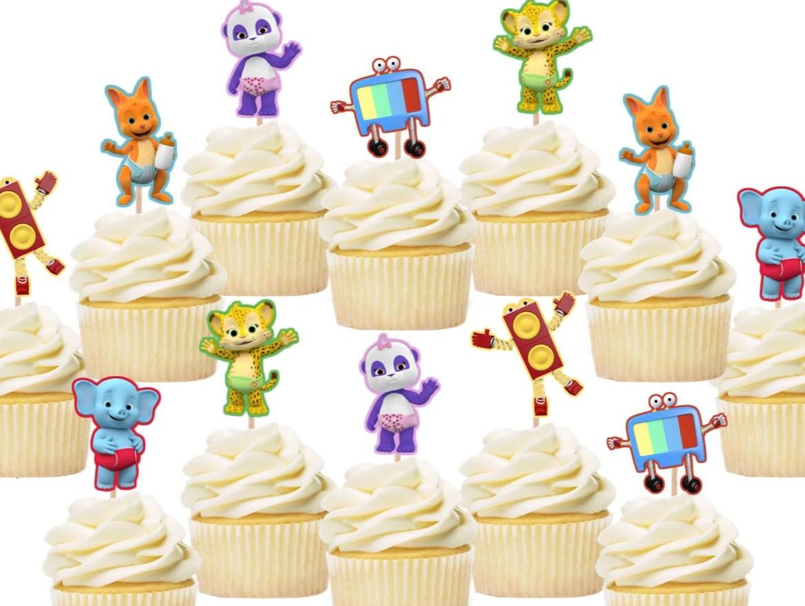 Word Party cupcake toppers, cake decorations