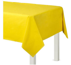 Yellow Plastic Rectangular Tablecover, 54x108""