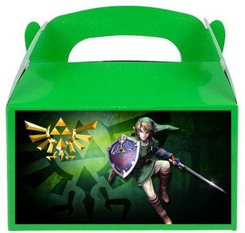 Legend of Zelda Treat Favor Boxes, Party Supplies