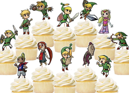 Legend of Zelda Cupcake Topper, party supplies