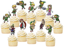 Load image into Gallery viewer, Legend of Zelda Cupcake Toppers, Handmade
