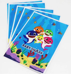 Baby Shark Birthday Party Supplies, Cups, Plates, Napkins, Tablecover, Banner, Hats
